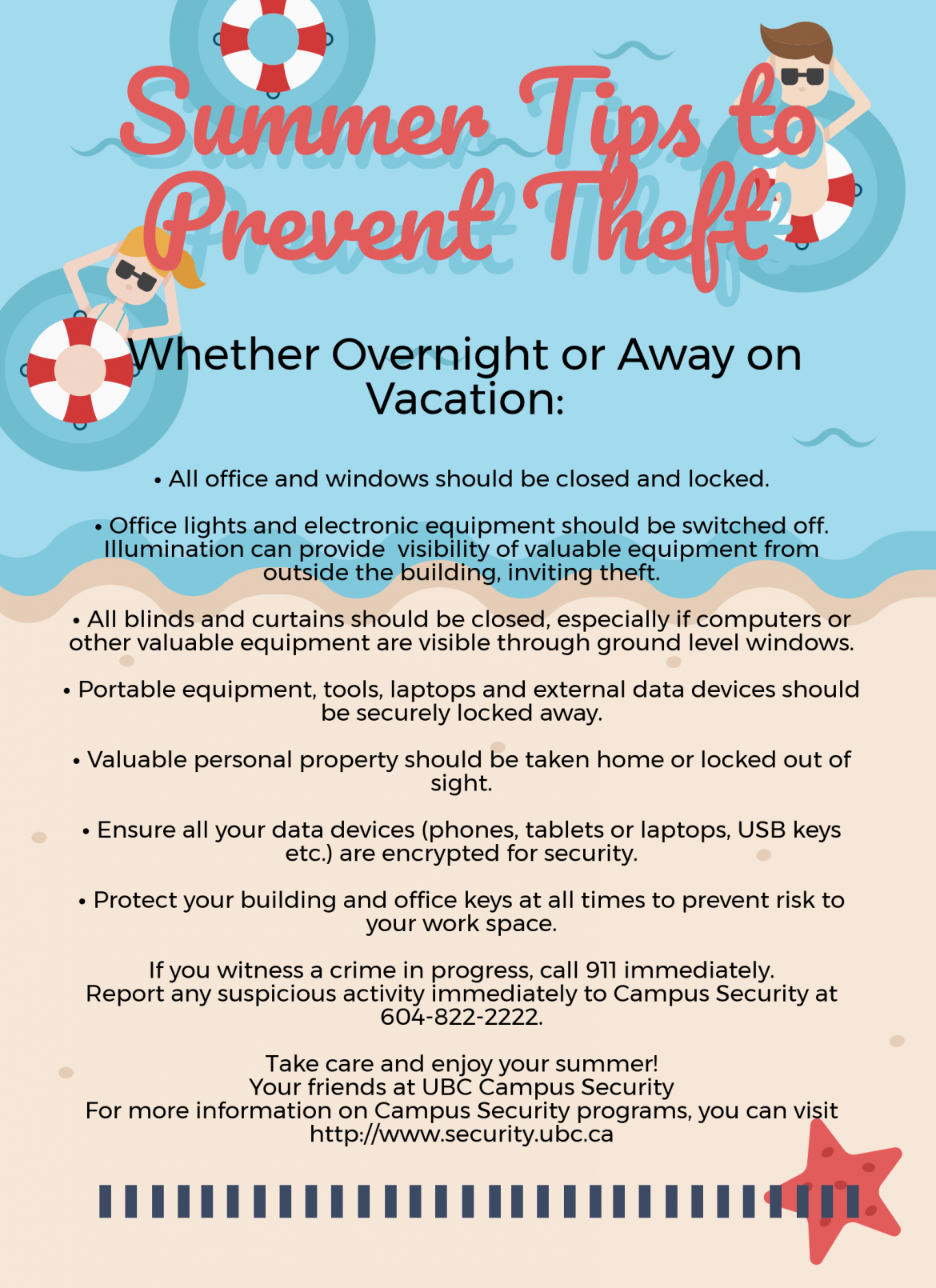 June Safety News: 1) Summer Crime Prevention Tips & 2) World